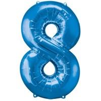 Parti Paketi 8 Sayısı Mavi Supershape Folyo Balon