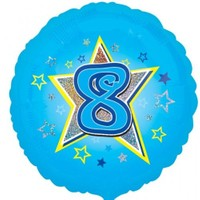 Parti Paketi 8 Yıldızlı MaviFolyo Balon