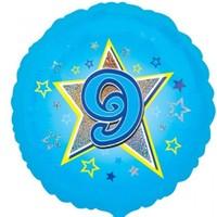 Parti Paketi 9 Yıldızlı MaviFolyo Balon