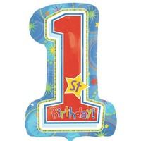 Pandoli Supershape Folyo One Derful Birthday Boy Balon