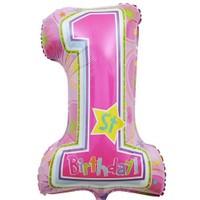 Pandoli Supershape Folyo One Derful Birthday Girl Balon