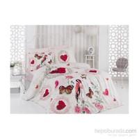Sabaev Love Heart 3D Çift Kişilik %100 Pamuk Nevresim Takımı
