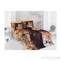 Sabaev Tiger Cat 3D Çift Kişilik %100 Pamuk Nevresim Takımı