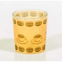 Kaffee Kahve Çekirdeği Desenli Mumluk