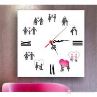 Aşk ve Hayat Kanvas Tablo Saat