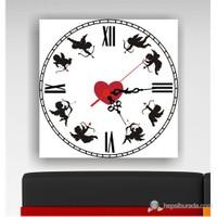 Kalpli Aşk Kanvas Tablo Saat