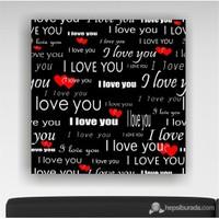 Love You Kanvas Tablo Saat