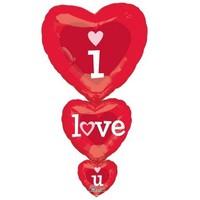 Pandoli Supershape Folyo I Love You Stacker Balon