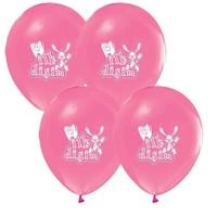 Pandoli 25 Adet İlk Dişim Baskılı Metalik Pembe Balon