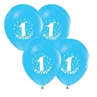 Pandoli 25 Adet Happy Birthday 1 Yaş Mavi Balon