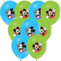 Pandoli 100 Adet Mickey Baskılı Renkli Balon Latex