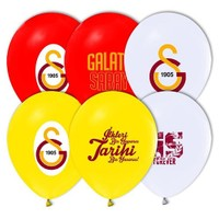 Pandoli 100 Lü Galatasaray Baskılı Latex Renkli Balon