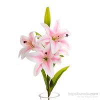Yedifil Lilyum Pembe Dekoratif Çiçek 1 Alana 1 Bedava