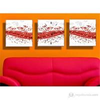 Kırmızı Kanvas Tablo ve Saat