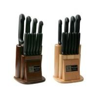 Sürmene Sürbısa 61501 Naturel Ahşap Standlı Mutfak Bıçak Seti 10 Lu