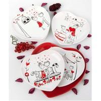 Keramika Takım Pasta Kalp 7 Parca Perı Masalı