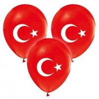 Parti Şöleni Türk Bayraklı Baskılı Balon 20 Adet