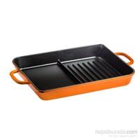Hecha Grill Plate Hybrid Turuncu 27X33