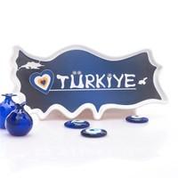 Joy Glass Seramik Türkiye Çerezlik Mavi Nazar Boncuklu