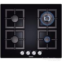Siemens EP616HB21E 4 Gözü Gazlı (1 Wok Gözlü) Siyah Cam Ankastre Ocak