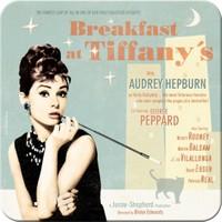 Breakfast at Tiffany's Blue Tekli Bardak Altlığı 9 x 9 cm