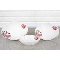 LoveQ Porselen Oval 3'Lü Tabak Seti 147164