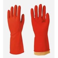 Egeline Kırmızı Renk Bulaşık Eldiveni 1 Çift No:8 Orta Boy