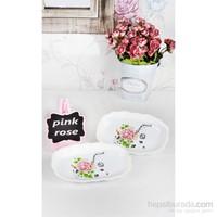 Keramika Kayık Romeo 19 Cm Beyaz 004 Pink Rose