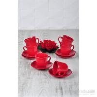 Keramika Takım Çay Romeo 12 Parça Kırmızı Bayrak 506 A