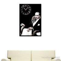 Atatürk Temalı - Çerçeveli Kanvas Saat
