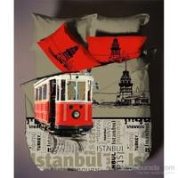 Hobby İstanbul V1 Çift Kişilik Deluxe Saten Nevresim Takımı