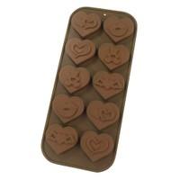 Kalpli 10'lu Çikolata Kalıbı