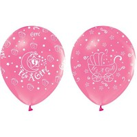 Pandoli 10 Adet Pembe It İs A Girl Baskılı Latex Balon