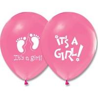 Pandoli 10 Adet Pembe It İs A Girl Baskılı Balon Latex