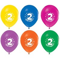 Pandoli 100 Adet 2 Yaş Happy Birthday Latex Renkli Balon