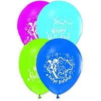 Pandoli 25 Adet Happy Birthday Baskılı Renkli Latex Balon