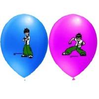 Pandoli 10 Lu Ben 10 Baskılı Latex Balon Renkli