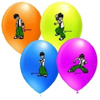 Pandoli 25 Li Ben 10 Baskılı Latex Balon Renkli