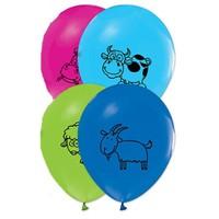 Pandoli 25 Li Çiftlik Hayvanları Baskılı Latex Renkli Balon