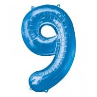 Parti Paketi 9 Sayısı Mavi Supershape Folyo Balon