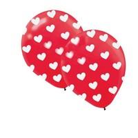 Pandoli Kırmızı Kalp Baskılı 10 Adet Latex Balon