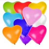 Pandoli 10 Lu Karışık Renkli Latex Kalp Balon