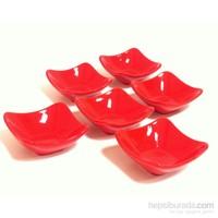 Keramika Çerezlik Lale 13 Cm Kırmızı Bayrak 506