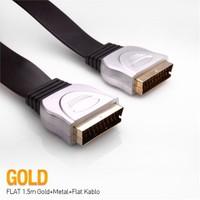 S-Link SLX-721 Scart to Scart 1.5m Flat Kablo