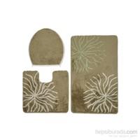 Confetti Myra Üçlü Set A.Maki Yeşili Banyo Halısı
