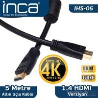 Inca IHS-05 5m Altın Uçlu 4K Ultra HD 3D HDMI Kablo