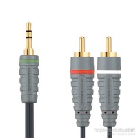 Bandridge BAL3401 3.5mm - 2xRCA 1m Audio Kablo