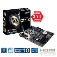 Asus Z170-K Intel Z170 3466MHz(OC) DDR4 Soket 1151 ATX Anakart
