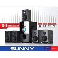 Sunny SN3SS22 Bluetoothlu 5+1 Radyolu /USB/SD/MMC Kart Okuyuculu Ses Sistemi