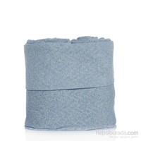 Tril Tek Kişilik Mavi Melanj Penye Stretch Nevresim/Battaniye